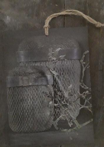 Decobordje manden voor in een landelijk interieur Benard's Woonaccessoires
