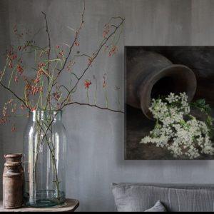 Schilderpaneel fluitekruid voor een landelijk interieur | Benard's Woonaccessoires