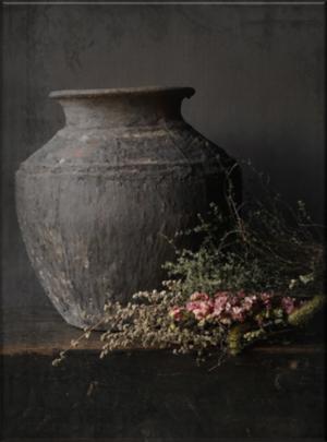 Schilderpaneel met Antieke pot. Perfect passend in een sober interieur | Benard's Woonaccessoires